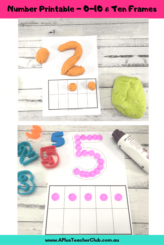 0-10 number printable with ten frames