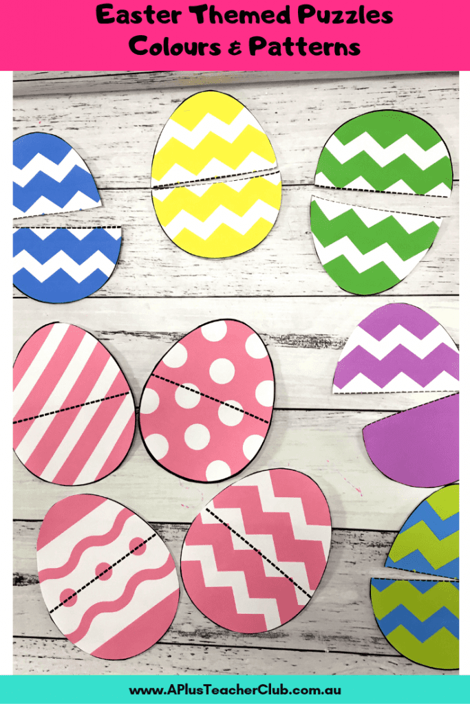 Colour & Pattern matching Easter eggs Math Activities