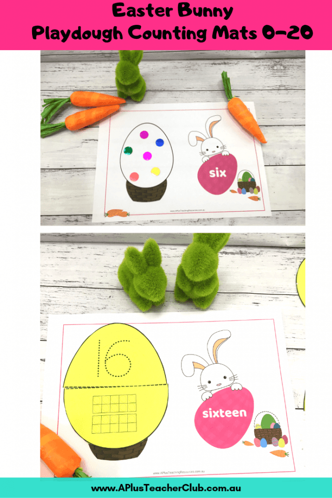 Easter Playdough counting mats