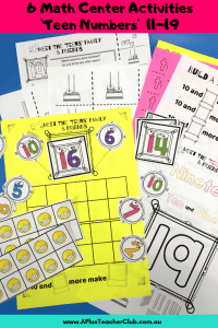 Teen Numbers Math Center Games (11-19) product image