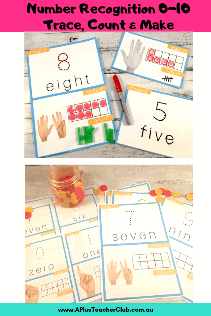 Number Recognition Printables 0-10
