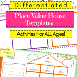 Place Value House Templates