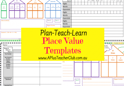 Place Value Templates