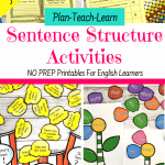 Sentence Structure Printables For Kids