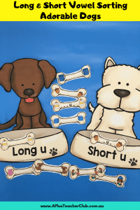 Long & Short Vowels Sorting Adorable Dogs Image of Product