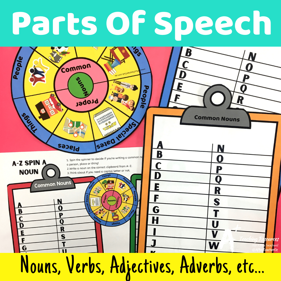 Parts Of Speech Activities For Kids {Nouns-Verbs-Adjectives etc..!}