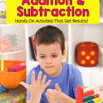 Teaching Kids Addition & Subtraction image of child counting on fingers