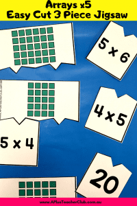 Multiplication Arrays Puzzles x5 product image