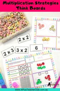 Multiplication think boards & arrays (1)