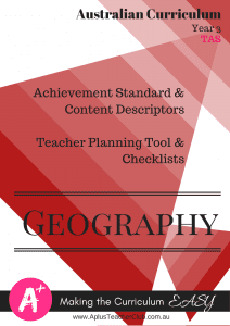 Australian Curriculum Planning Documents Year 3 Geography TAS