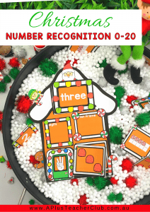 Christmas Gingerbread House Number Recognition