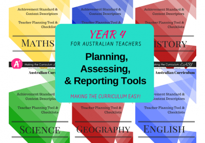 Australian Curriculum Planning Tools For Teachers {Year 4}