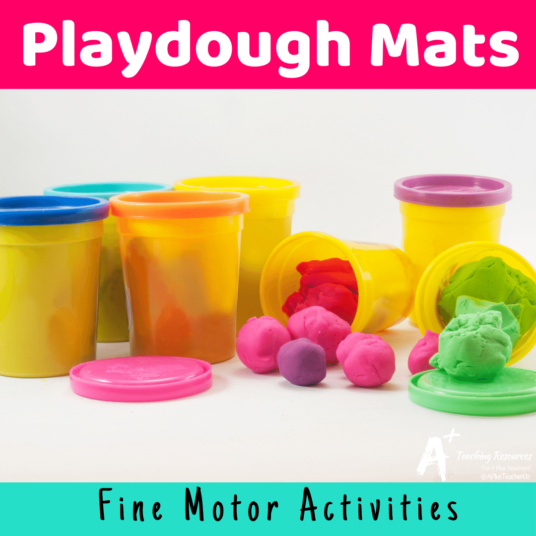 Playdough Mat Templates {Hands-On Learning}