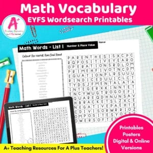 EYFS Math Vocabulary Printables