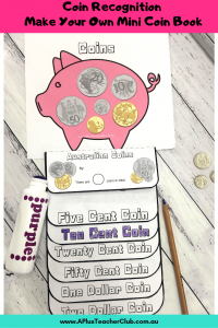 Image of completed Mini Coin Book template